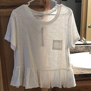 White babydoll shirt